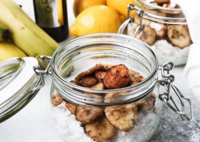 Karamellisierte Bananen mit Leinöl
