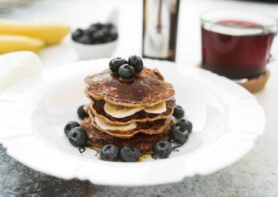 Dinkel-Pancakes mit Leinöl