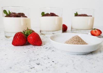 Joghurt-Topfencreme mit Süßem Winter