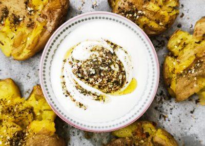 Smashed Potatoes mit Zaatar aus dem Orient