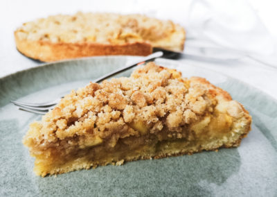 Rhabarber-Apfelkuchen mit Süssem Winter